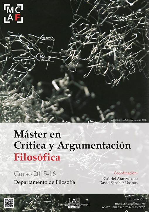 Máster en Crítica y Argumentación Filosófica 2015-2016