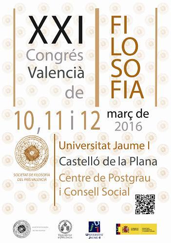 Cartell XXI Congrés Valencià de Filosofia